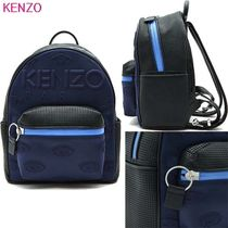 KENZO Unisex Faux Fur Blended Fabrics Studded Backpacks