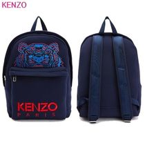 KENZO Casual Style Unisex Faux Fur Blended Fabrics Studded