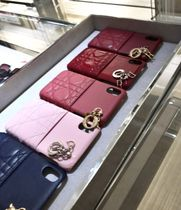 Christian Dior LADY DIOR Leather Smart Phone Cases
