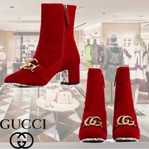 GUCCI Plain Toe Elegant Style Ankle & Booties Boots