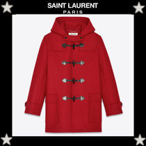Saint Laurent Wool Plain Duffle Coats