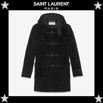 Saint Laurent Fur Plain Duffle Coats