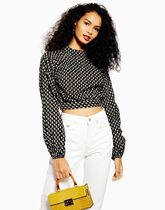 TOPSHOP Flower Patterns Casual Style Cotton Shirts & Blouses