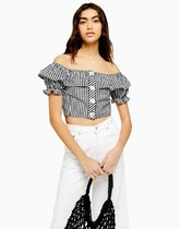 TOPSHOP Casual Style Cotton Shirts & Blouses