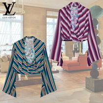 Louis Vuitton Stripes Silk Long Sleeves Shirts & Blouses