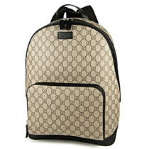 GUCCI GG Supreme Unisex Chain Leather Elegant Style Backpacks