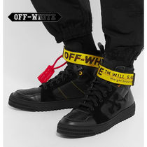 Off-White Street Style Plain Leather Sneakers