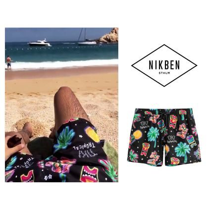 Printed Pants Tropical Patterns Unisex Street Style Co-ord