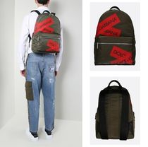Dolce & Gabbana Casual Style Unisex Nylon Plain Backpacks