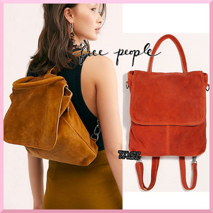 Casual Style Suede A4 2WAY Plain Backpacks
