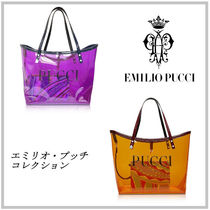 Emilio Pucci 2WAY Crystal Clear Bags PVC Clothing Elegant Style Totes