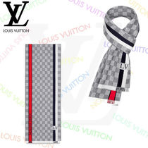 Louis Vuitton DAMIER Other Check Patterns Wool Fringes Accessories