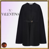 VALENTINO Short Wool Ponchos & Capes