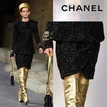 CHANEL Tweed Elegant Style Skirts