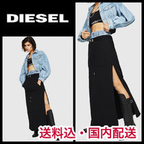 DIESEL Casual Style Blended Fabrics Street Style Plain Cotton Long