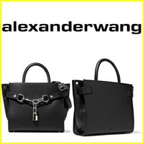 Alexander Wang Casual Style 2WAY Chain Plain Leather Shoulder Bags