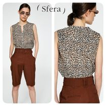 Sfera Leopard Patterns Casual Style Sleeveless