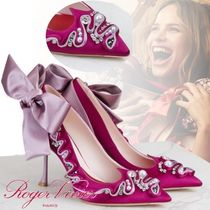 Roger Vivier With Jewels Elegant Style High Heel Pumps & Mules