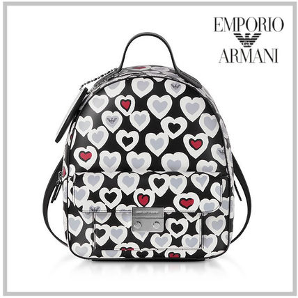 Heart Casual Style Street Style 2WAY Backpacks