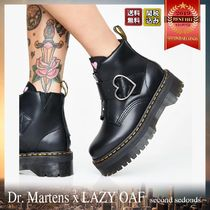 Dr Martens Heart Platform Plain Toe Casual Style Street Style