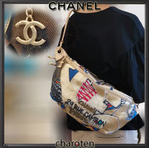 CHANEL ICON Casual Style Unisex Canvas Street Style Chain Shoulder Bags