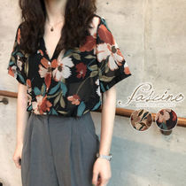 Flower Patterns Tropical Patterns Casual Style Chiffon