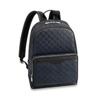 Louis Vuitton DAMIER INFINI Other Check Patterns Blended Fabrics 2WAY Leather Backpacks