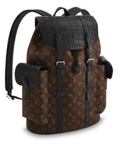 Louis Vuitton DAMIER GRAPHITE Monogram Crocodile Blended Fabrics Other Animal Patterns