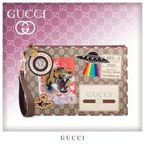 GUCCI Unisex Canvas Bag in Bag Clutches