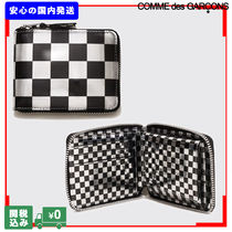 COMME des GARCONS Other Check Patterns Unisex Street Style Leather