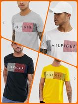 Tommy Hilfiger Unisex Street Style Cotton Short Sleeves T-Shirts