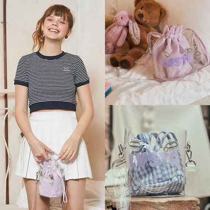 Gingham Street Style Pouches & Cosmetic Bags