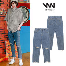 WV PROJECT Unisex Street Style Cotton Jeans & Denim