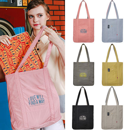 Casual Style Unisex Street Style A4 2WAY Plain Totes