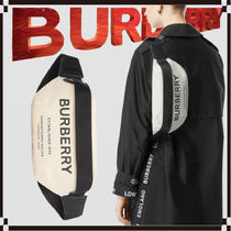 Burberry Casual Style Unisex Canvas 2WAY Shoulder Bags