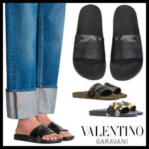 VALENTINO Camouflage Shower Shoes Khaki Shower Sandals