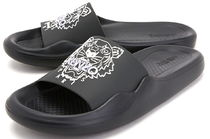KENZO Open Toe Rubber Sole Casual Style PVC Clothing Slippers