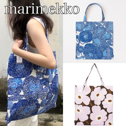 Flower Patterns Casual Style Bag in Bag A4 Totes
