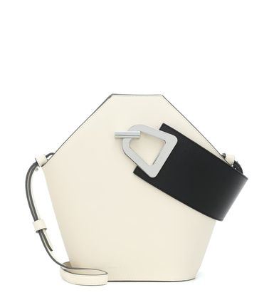 Casual Style 2WAY Plain Leather Crossbody Logo Totes