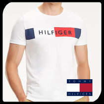 Tommy Hilfiger Pullovers Plain Cotton Short Sleeves T-Shirts