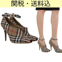 Burberry Other Check Patterns Open Toe Peep Toe Pumps & Mules