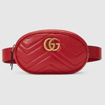 GUCCI Casual Style Blended Fabrics Plain Leather Home Party Ideas