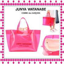 Junya Watanabe Casual Style Purses Crystal Clear Bags PVC Clothing Totes