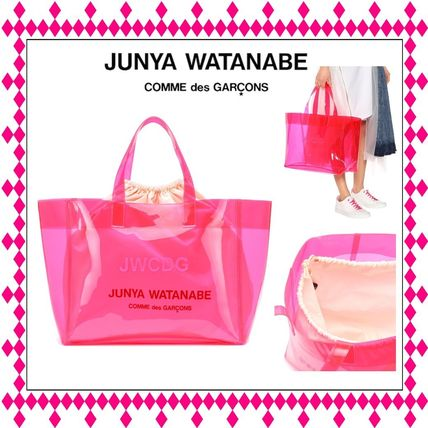 Casual Style Purses Crystal Clear Bags PVC Clothing Totes