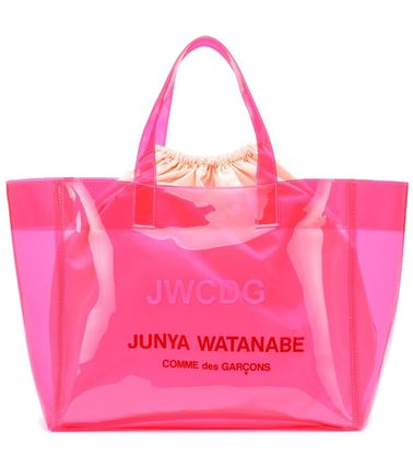 Casual Style Purses Crystal Clear Bags PVC Clothing Logo