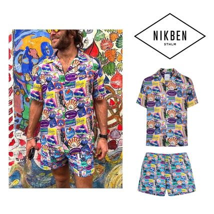 Unisex Street Style Co-ord Front Button Matching Sets
