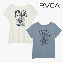 RVCA Crew Neck Short Street Style Plain Cotton Short Sleeves