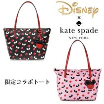 Disney Dots Casual Style Collaboration A4 PVC Clothing Totes