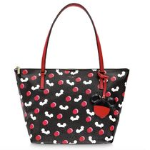 Disney Dots Casual Style Collaboration A4 PVC Clothing Logo Totes