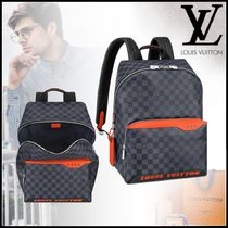 Louis Vuitton DAMIER COBALT Canvas Street Style A4 2WAY Backpacks